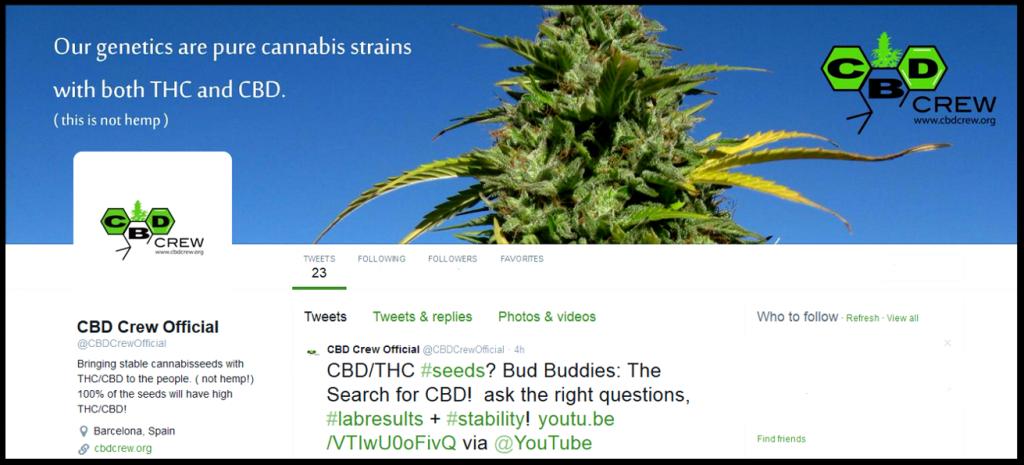 Twitter account bilde cbd crew